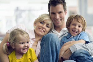family health insurance in California - family sitting